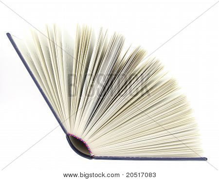Opened Book Isolated Over White Background