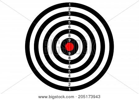 target ( back Darts) on white background