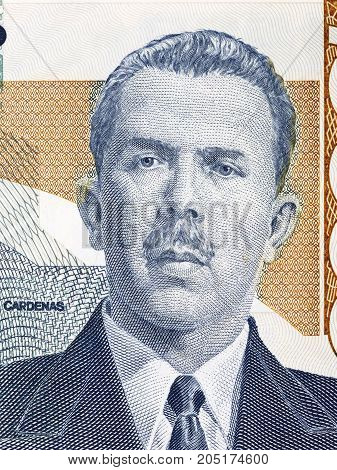 Lazaro Cardenas portrait from  old Mexican money