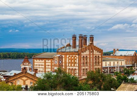 The Zhigulevsk brewery. The building was built in 1881. Russia, Samara