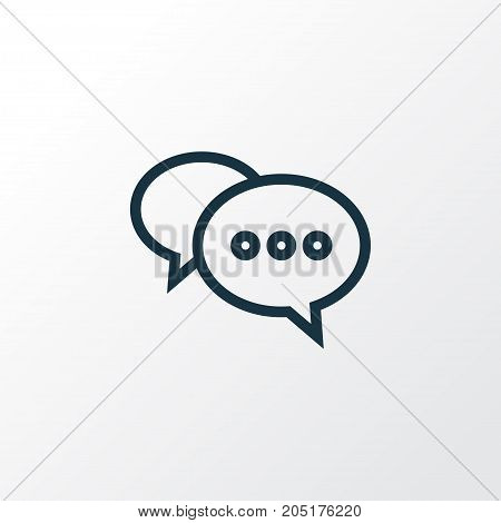 Premium Quality Isolated Chatting Element In Trendy Style.  Comment Outline Symbol.