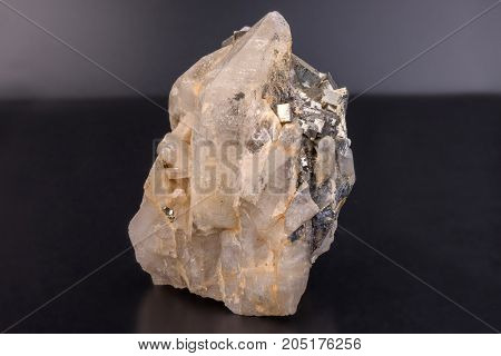 Mineral Quartz - silicon oxide. One of the most widespread minerals in the world.
