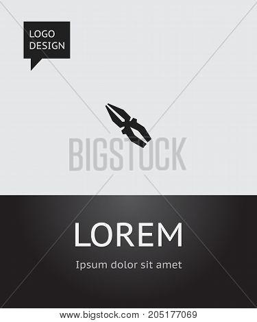 Vector Illustration Of Mechanic Symbol On Pliers Icon