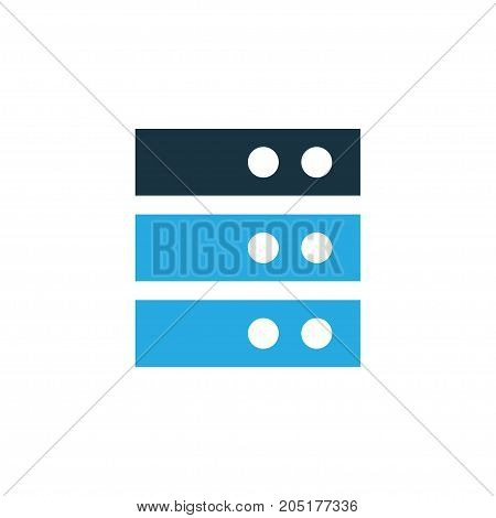 Premium Quality Isolated Special Processor Element In Trendy Style.  Server Colorful Icon Symbol.