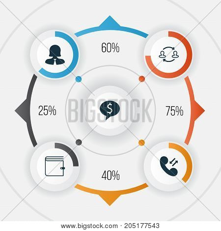 Hr Icons Set. Collection Of Businesswoman, Wallet, Team Structure And Other Elements