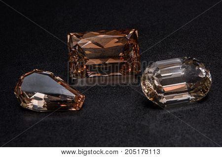 Mineral Topaz is used as a jewelry stone