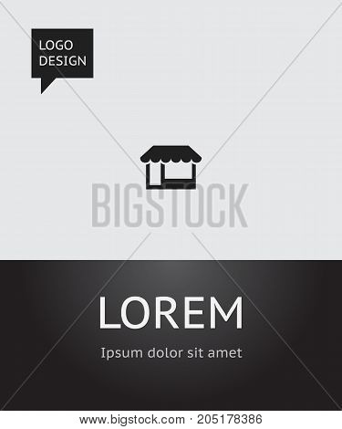 Vector Illustration Of Business Symbol On Store Icon