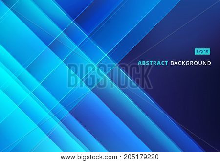 Abstract blue image that depicts technology with overlapping diagonal lines. Vector illustration
