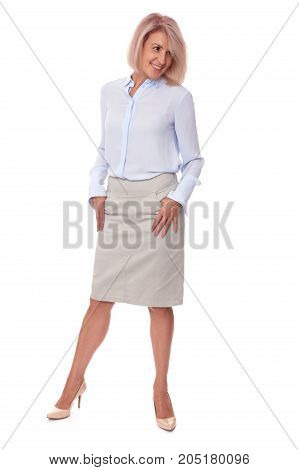 Beautiful Middle Aged Woman. Full Body Portrait