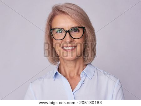 Portrait Of A Middle Aged Beautiful Woman