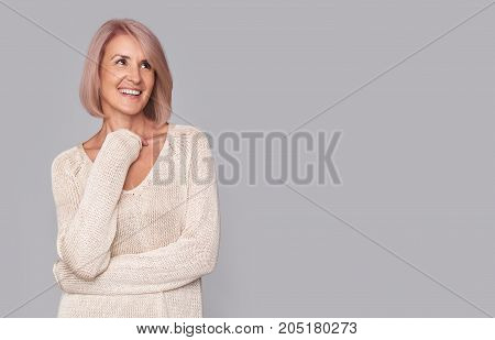 Happy Beautidul Middle Aged Woman