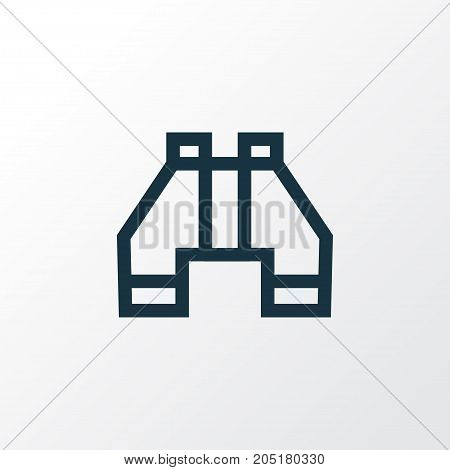 Premium Quality Isolated Find Element In Trendy Style.  Binocular Outline Symbol.