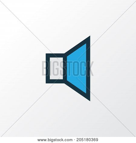 Premium Quality Isolated Silence Element In Trendy Style.  Mute Colorful Outline Symbol.