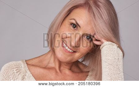 Beauty Smiling Mid Aged Woman