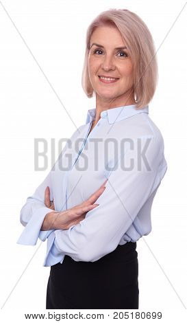 Mature Business Woman Isolated