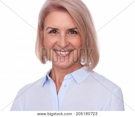 Face Of Beautiful Middle Aged Woman
