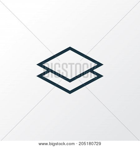 Premium Quality Isolated Layer Element In Trendy Style.  Level Outline Symbol.