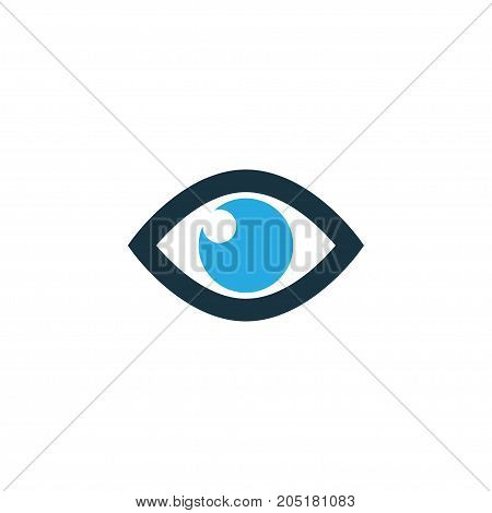 Premium Quality Isolated Vision Element In Trendy Style.  Eye Colorful Icon Symbol.