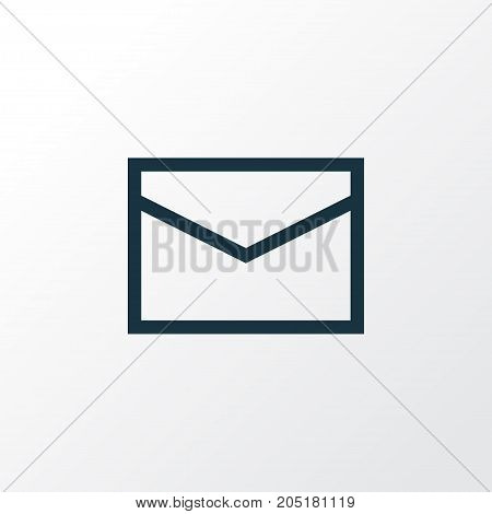 Premium Quality Isolated Mail Element In Trendy Style.  Letter Outline Symbol.
