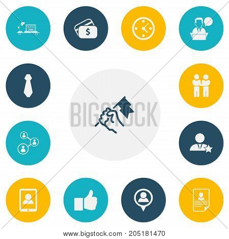 Set Of 13 Editable Job Icons. Includes Symbols Such As Rally, Talking Man, Cv And More