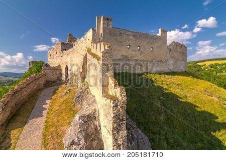A medieval castle Beckov central Europe Slovakia.