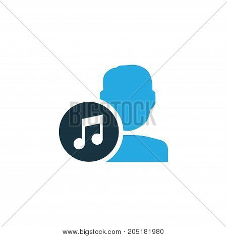 Premium Quality Isolated Composer Element In Trendy Style.  Artist Colorful Icon Symbol.
