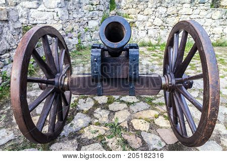 Historic cannon for defend the medieval fortress.