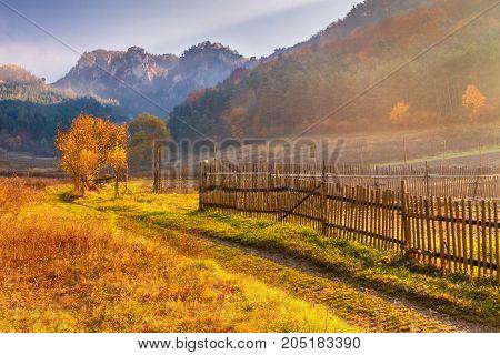 The Mountainous Landscape In Autumn Colors, Slovakia - Sulov Roc