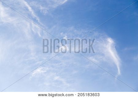 beautiful background of clouds in the sky .