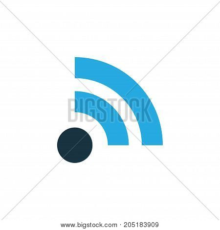 Premium Quality Isolated Wifi Element In Trendy Style.  Feed Colorful Icon Symbol.