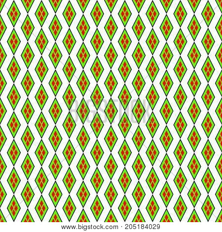 Repeating background with decorative rhombus.Seamless vector pattern.
