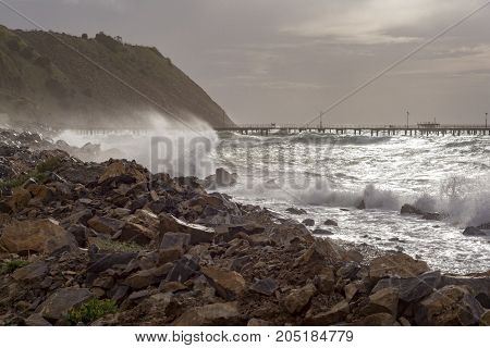 Winter Storms, Rapid Bay Jetties, Fleurieu Peninsula