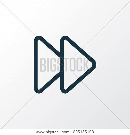 Premium Quality Isolated Next Element In Trendy Style.  Fast Forward Outline Symbol.