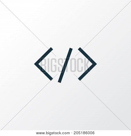 Premium Quality Isolated Code Element In Trendy Style.  Tag Outline Symbol.