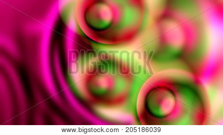 Abstract Background with Waves and Glass Beads.