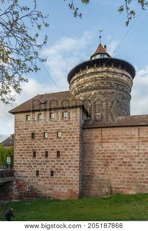 Spittlertorturm is an old tower in the south-west of the Nuremberg city wall Germany