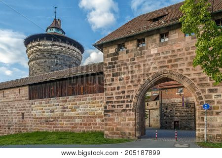 Spittlertor is an old gate and tower in the south-west of the Nuremberg city wall.