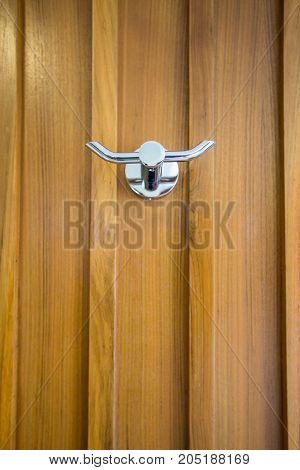 Stainless steel wall hanger, hook for cloth at wooden wall