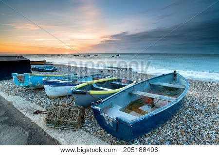 Boats At Selsey Beach