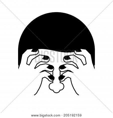 Omg Sign. Face Palmed Symbol. Oh My God. Vector Illustration