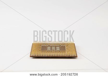 Old Cpu Processor Isolated On White Background