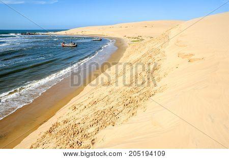 Barra de Valizas Uruguay - 11 february 2011: The beach of Barra de Valizas in Uruguay