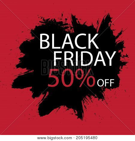 Black Friday Sale handmade lettering, calligraphy with film grain, noise, dotwork, grunge texture and dark background for logo, banners, labels, badges, prints, posters, web