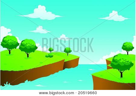 Creek Illustration Vector