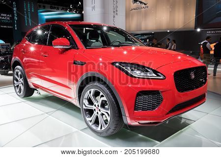 Red Jaguar E-pace Suv Car