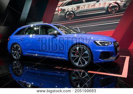 Blue New 2018 Audi Rs4 Avant Car
