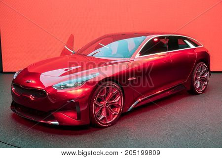 Red Kia Proceed Concept Car