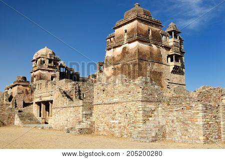 Beautifoul Fort Chittor is the largest fort in India and Asia in Chittorgarh India. Ruins of Rana Kumbha Palace