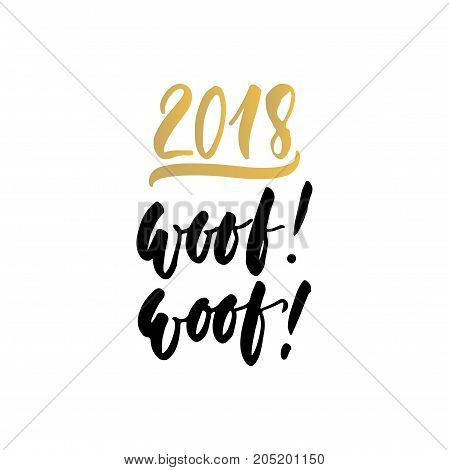 2018 Woof Woof Chinese New Year Vector Photo Bigstock