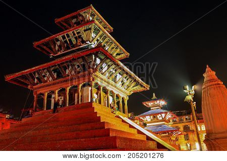 Maju Deval Temple in Kathmandu (a year later it collapsed after earthquake)